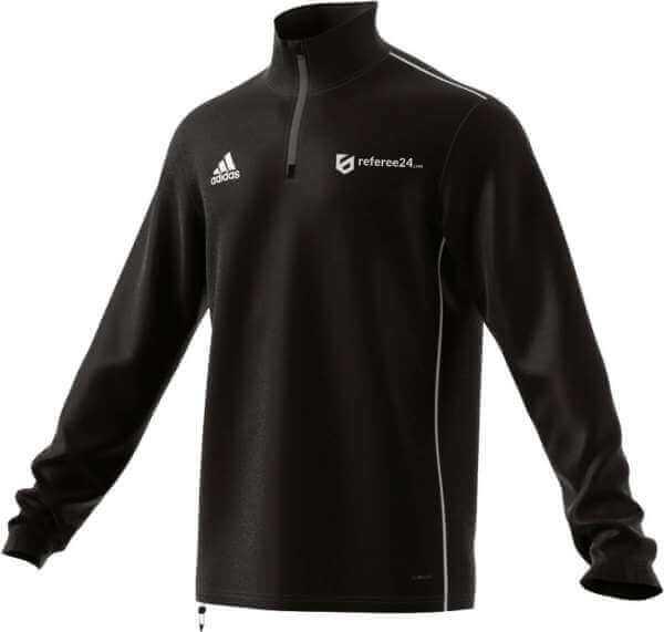 adidas Core 18 Training Top - schwarz - inkl. referee24.com Logo
