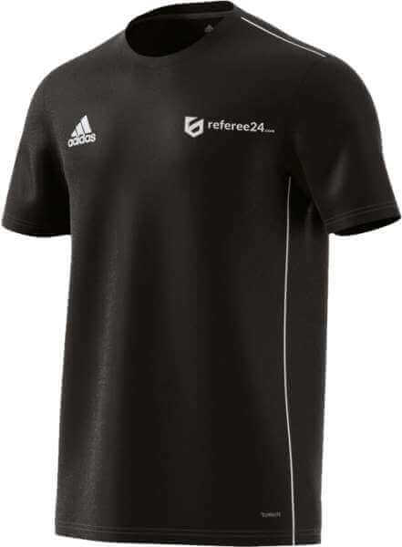 adidas Core 18 Training Jersey - schwarz - inkl. referee24.com Logo