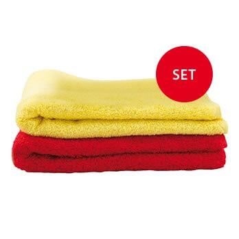 SR-Dusch-Handtuch Set - gelb/rot
